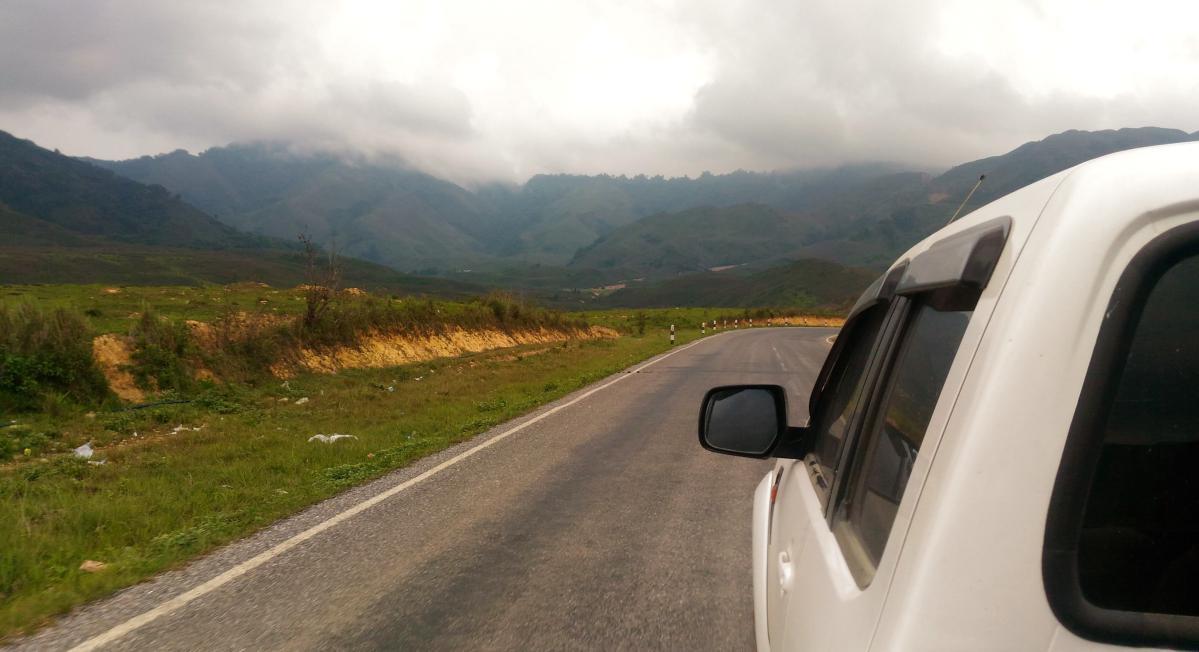 autostop au laos
