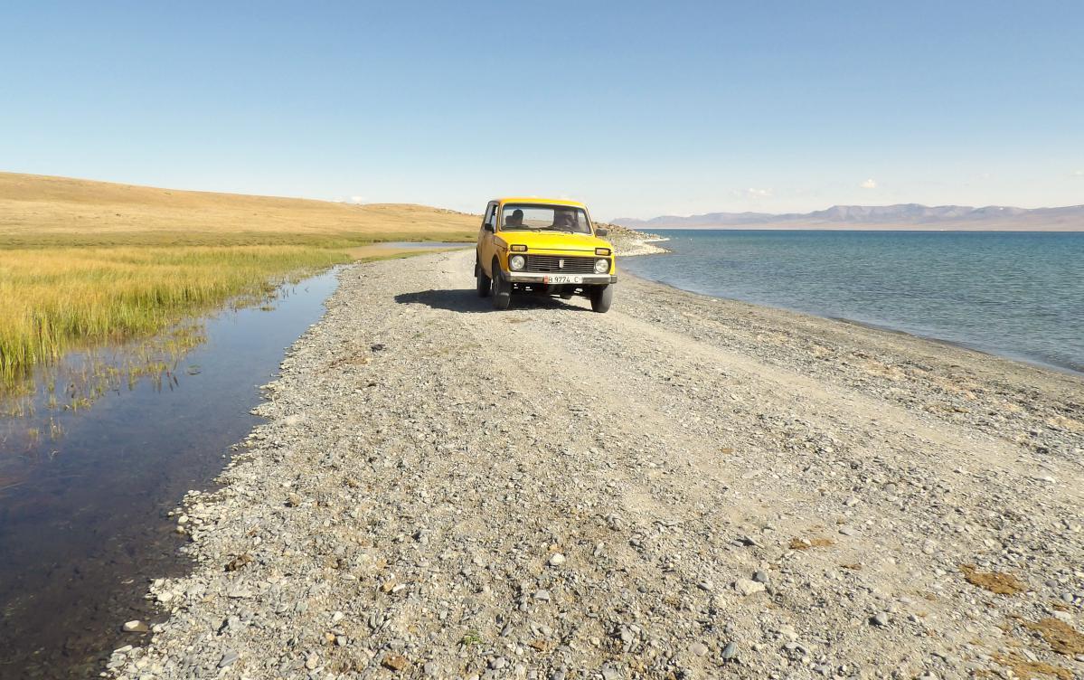 Lac Song Kul au Kirghizistan