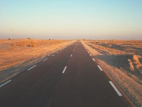 Route Nouakchott-Nouadhibou, Mauritanie