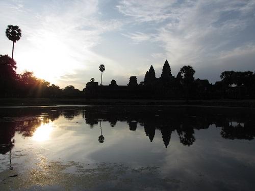 Lever de soleil sur Angkor, Siem Reap, Cambodge