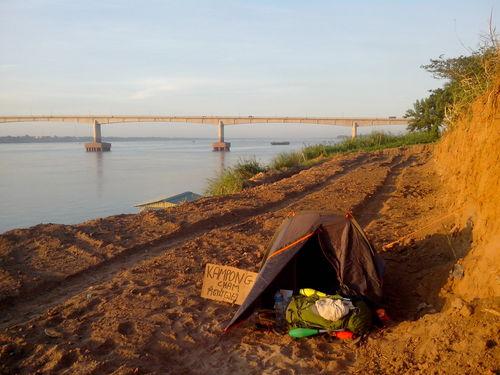 Camping urbain Cambodge