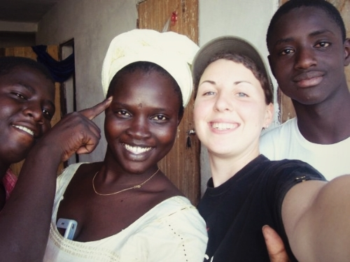 En famille, Nouakchott, Mauritanie