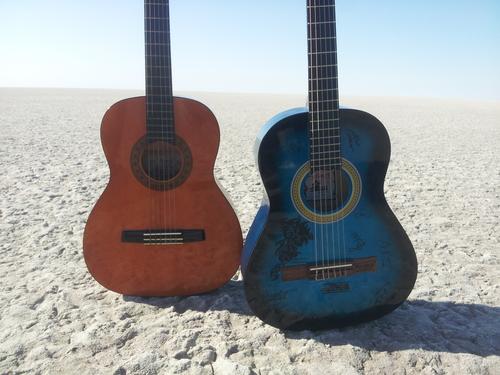 Guitare dans le désert