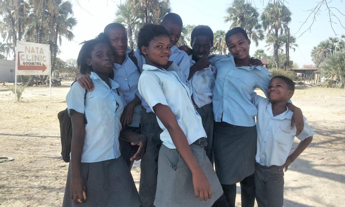 enfants au botswana
