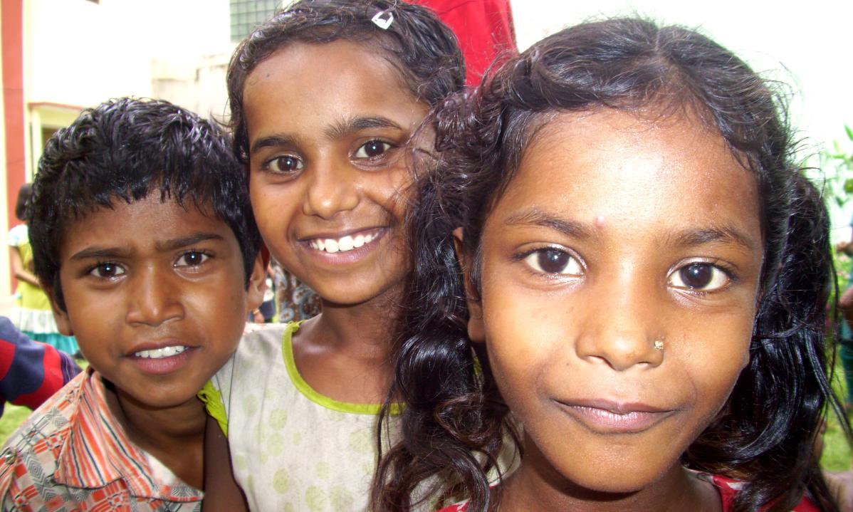 portraits d'enfants en inde