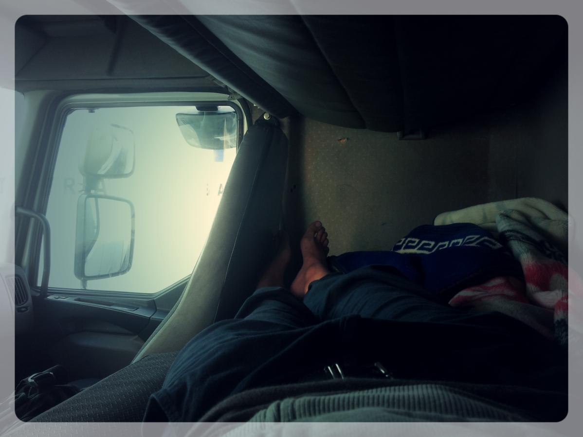 Dans le camion, bateau-stop Maroc