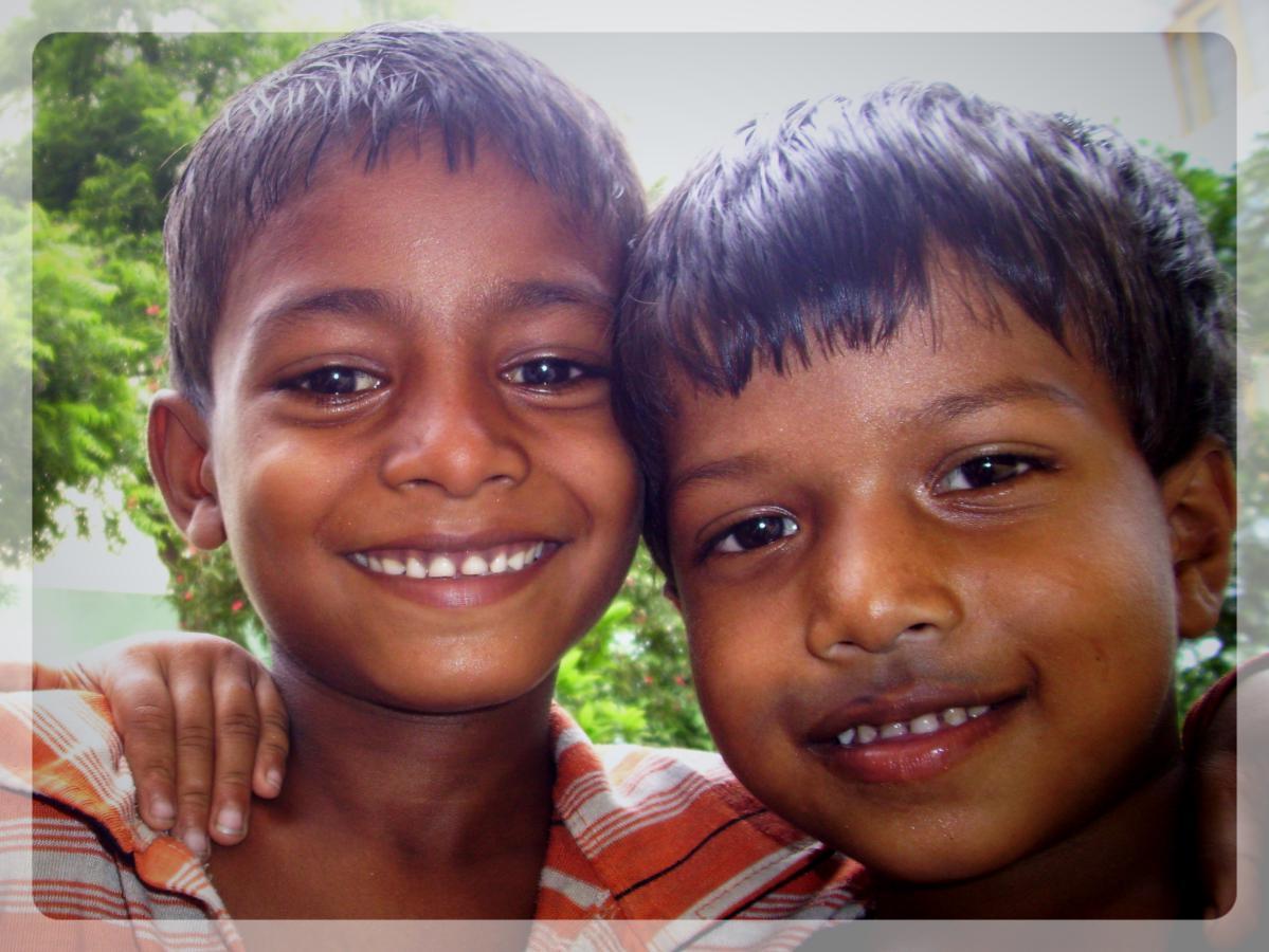 Enfants de l'ONG Asmita, Varanasi, Inde