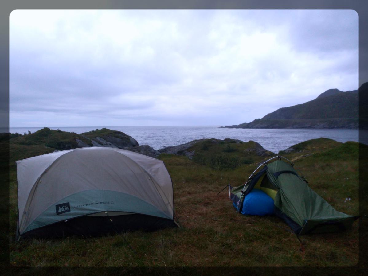 Camping sauvage, Lofoten, Norvège