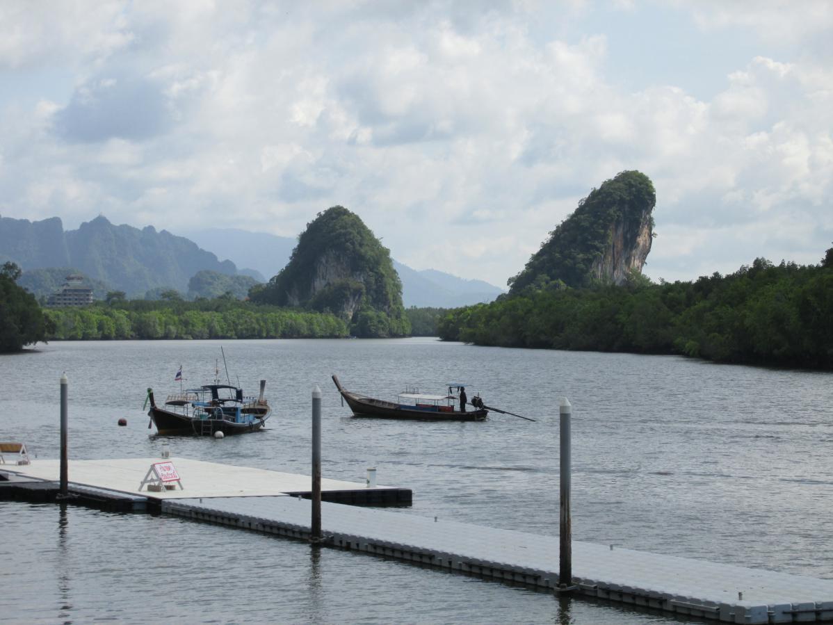 Promenade dans Krabi, en Thaïlande