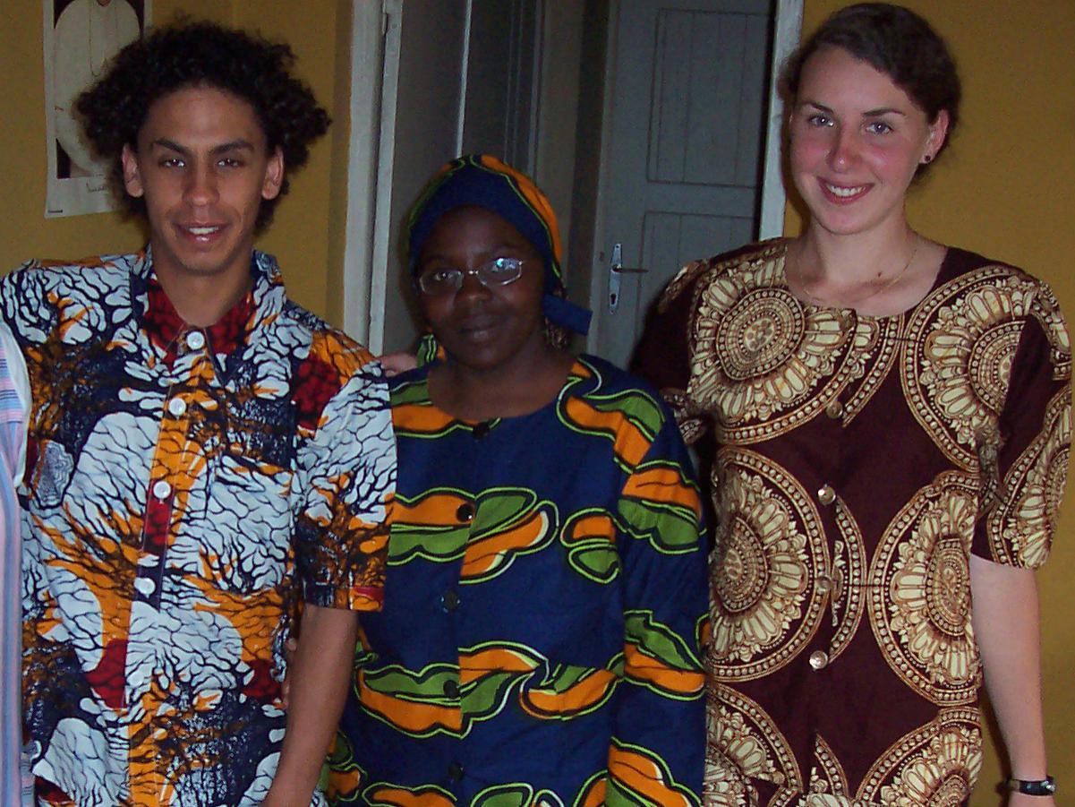 Avec José et ma meilleure amie à Rulindo, au Rwanda