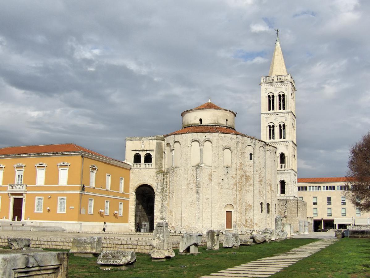 Dans la vieille ville de Zadar