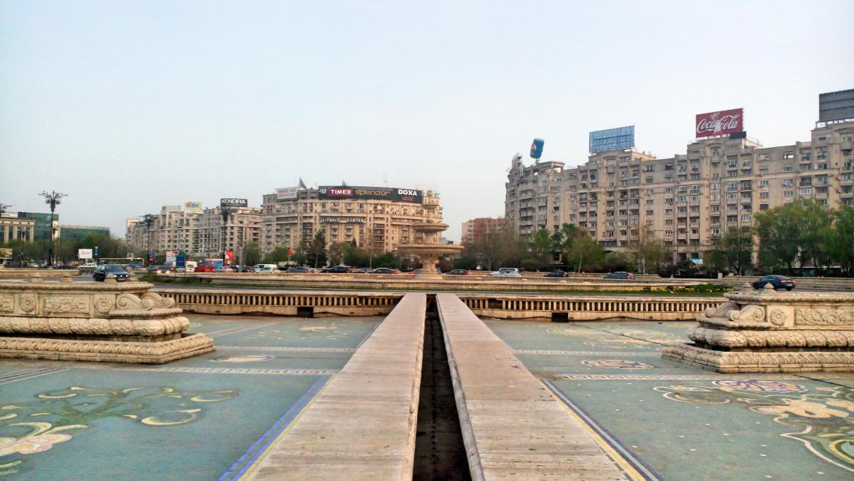 Promenade dans le centre-ville de Bucarest