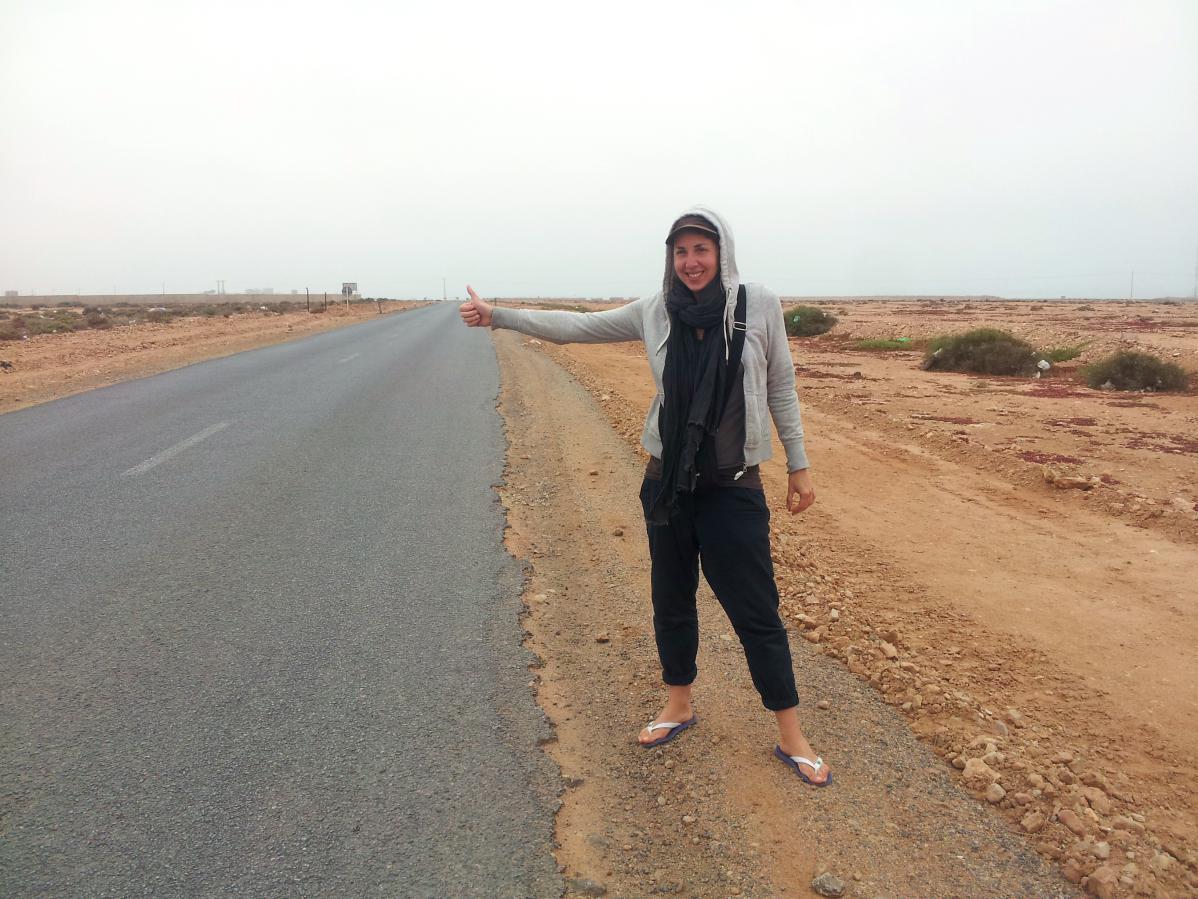 autostop au maroc dans le sahara