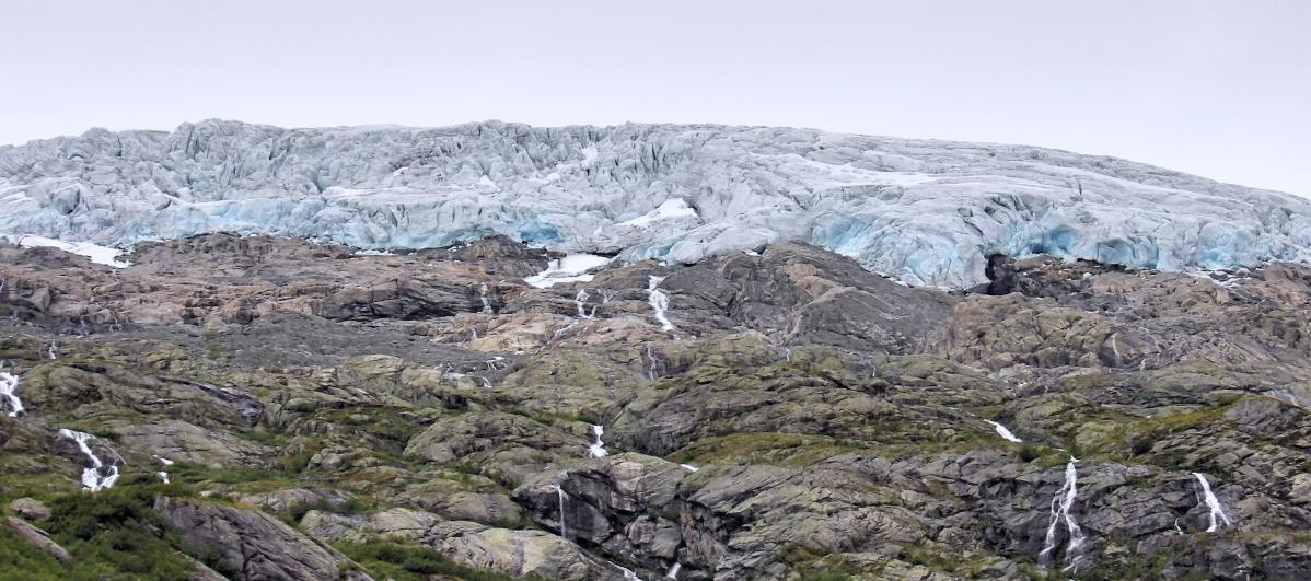 road trip en norvège, un glacier norvégien