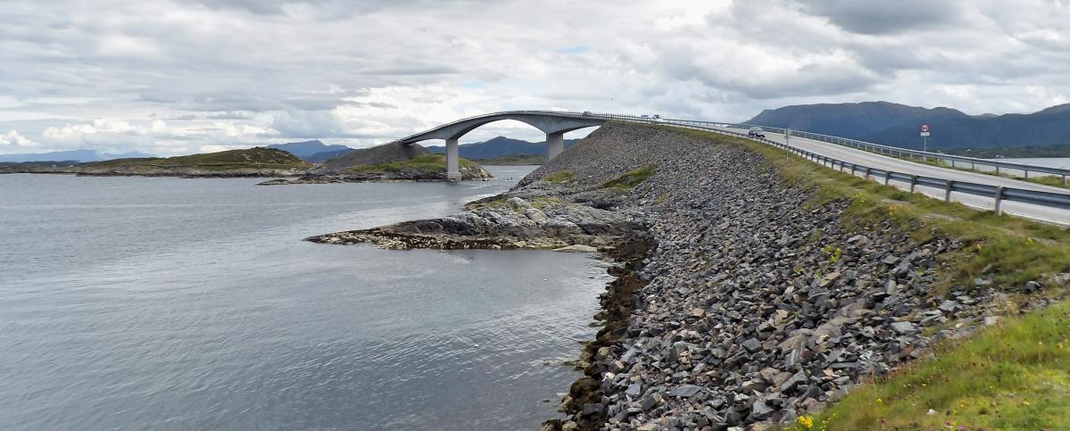 atlantic ocean road, road trip en norvège
