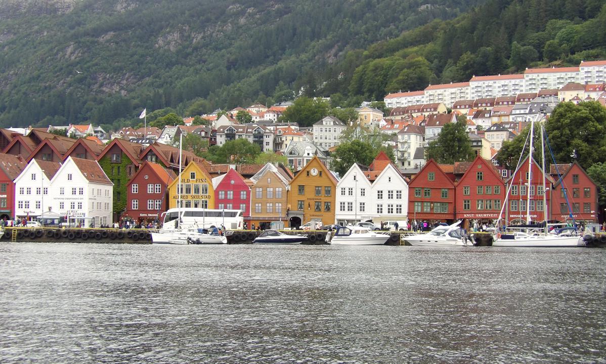 road trip en norvège, visite de bergen
