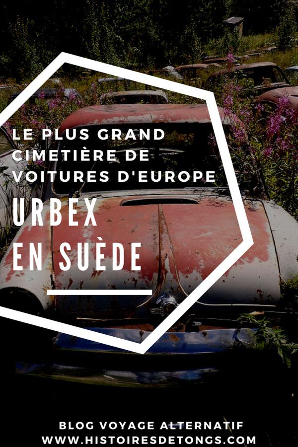 urbex suède cimetière de voitures
