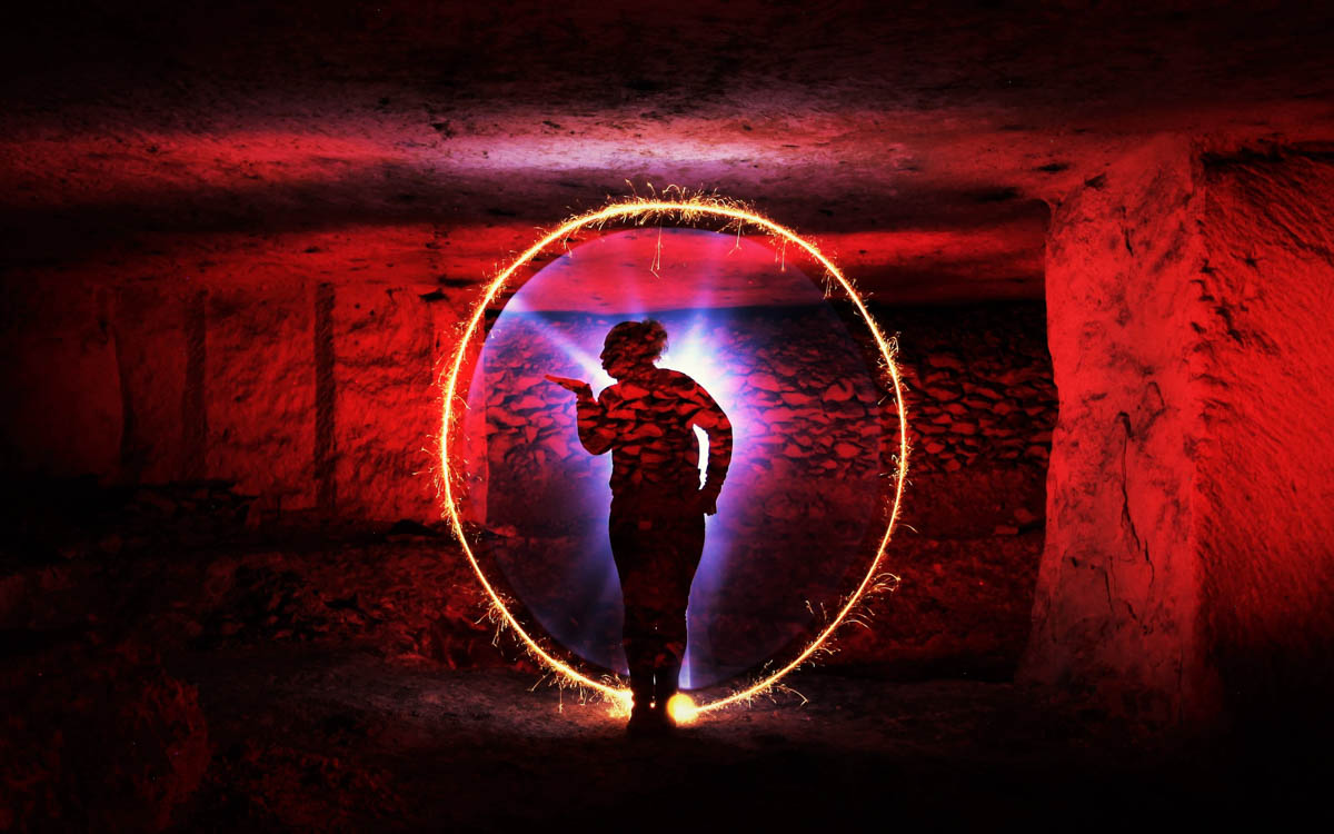 photo de light painting
