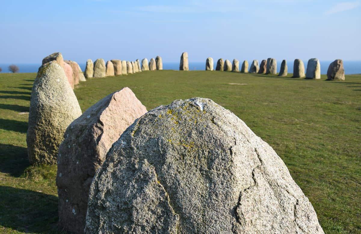 mégalithes d'Ales Stenar, Suède