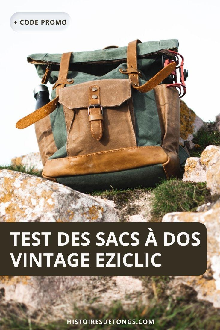 Test du sac à dos Aconcagua d'Eziclic : confortable, vintage et résistant... | Histoires de tongs, le blog aventure en solo et au féminin