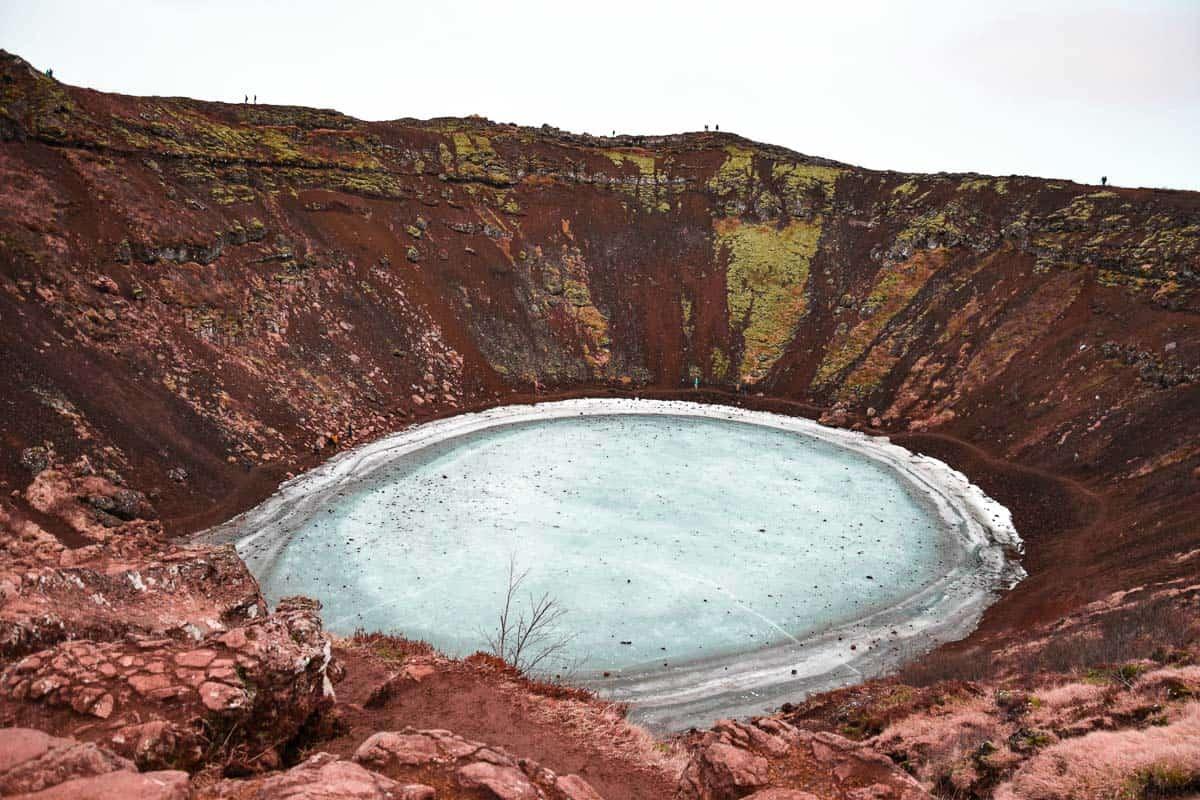 cratère de Kerid en Islande, dans le Cercle d'Or