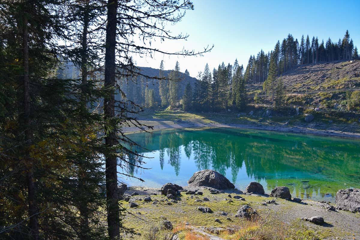 lago di carezza dolomites