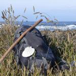 photo sac et bâton pèlerin