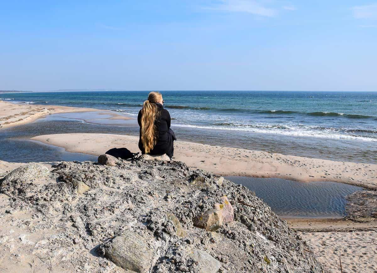 plage d'Ystad au Sud de la Suède
