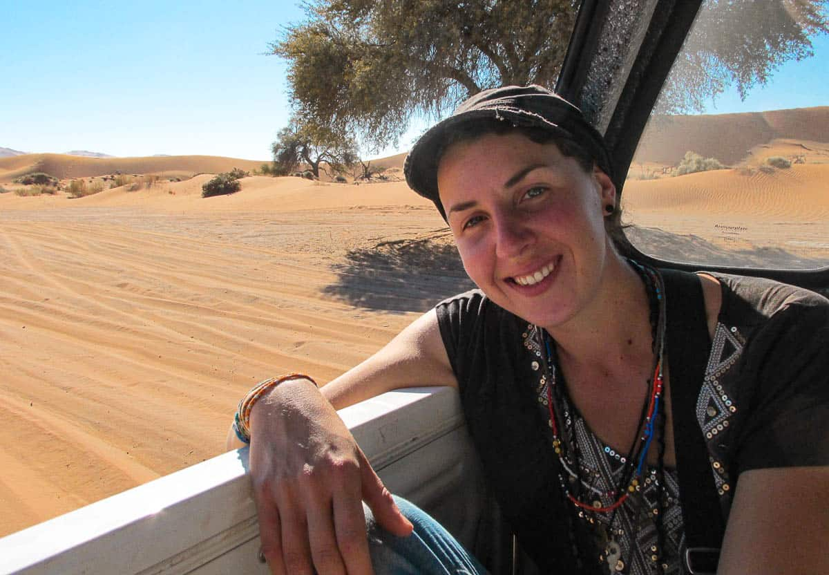 récit de voyage en Namibie, auto-stop dans le désert du Namib