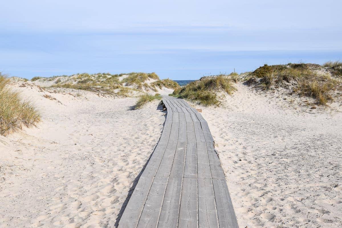 Randonnée au Sud de la Suède Sandhammaren plage