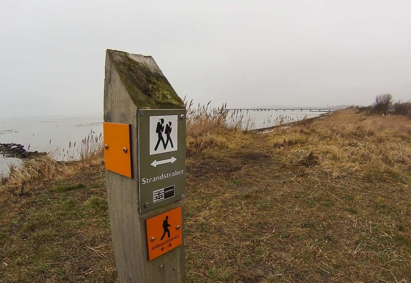 randonnée Lomma Strandstråket