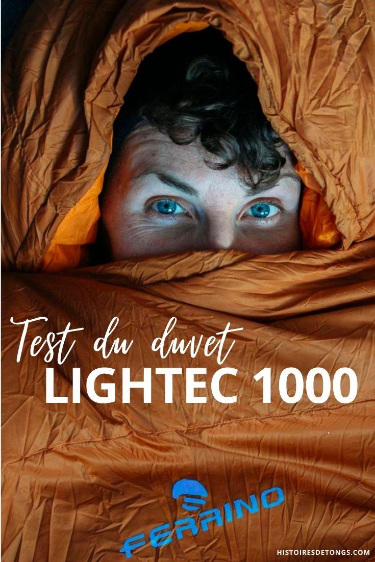 Test du duvet Ferrino Lightec 1000, un sac de couchage performant pour un poids ultra-léger... | Histoires de tongs, le blog aventure en solo et au féminin