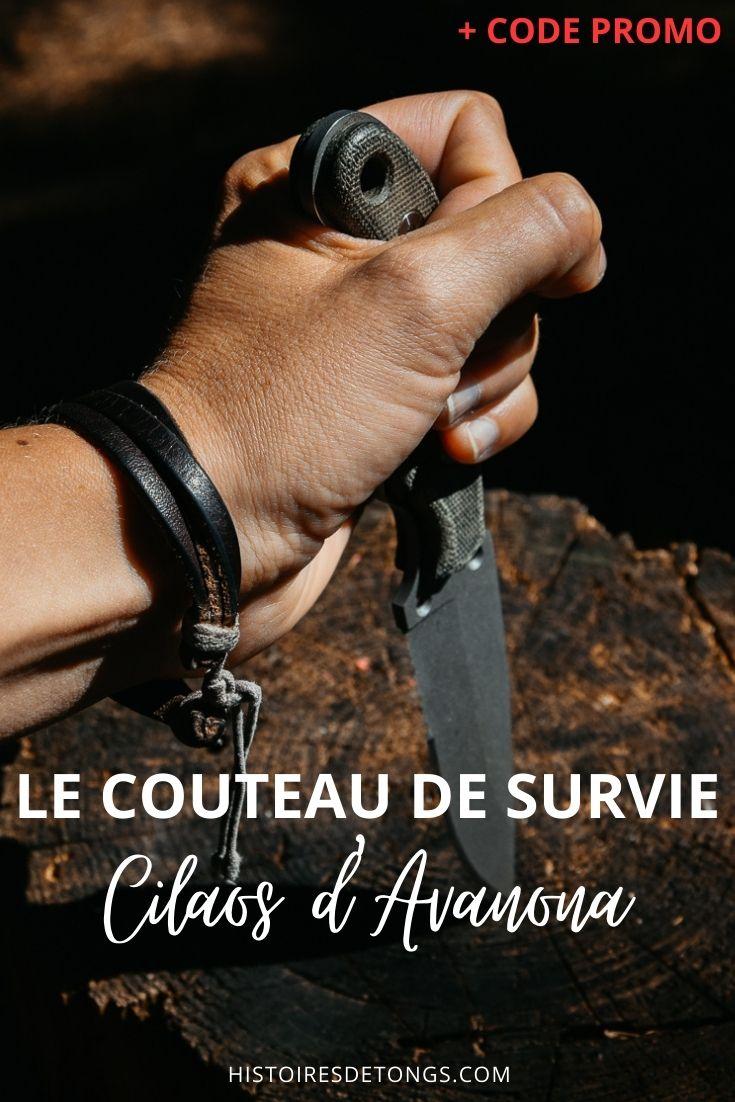 Test du couteau de survie et d'aventure Cilaos, de la marque Avanona. Un couteau outdoor français haut de gamme et polyvalent. Code promotionnel inclus dans l'article... | Histoires de tongs, le blog voyage passionnément alternatif